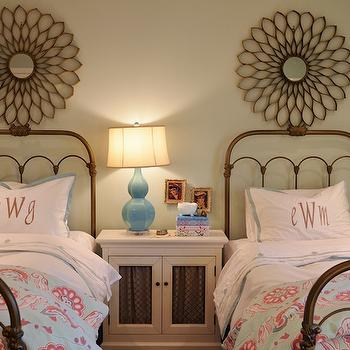 Vintage Iron Beds, Transitional, girl's room, Sherwin Williams Sea Salt, Life in Grace