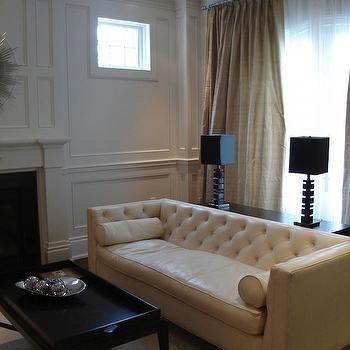 Leather Tufted Sofa, Contemporary, living room, Designer Friend