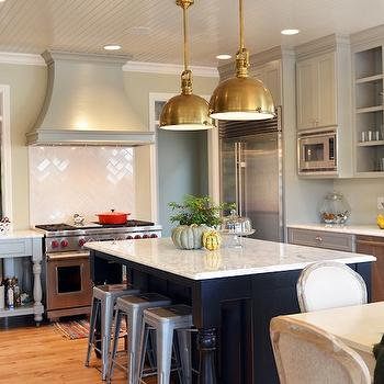 French KItchen Design, French, kitchen, Benjamin Moore Hazy Skies, Life in Grace