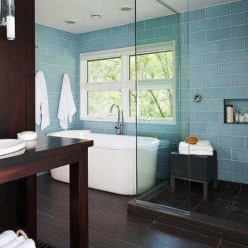 blue glass subway tiles