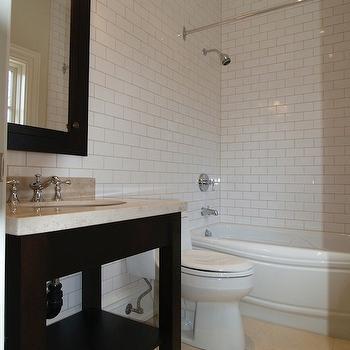 Subway Tile Shower Design, Contemporary, bathroom, Designer Friend