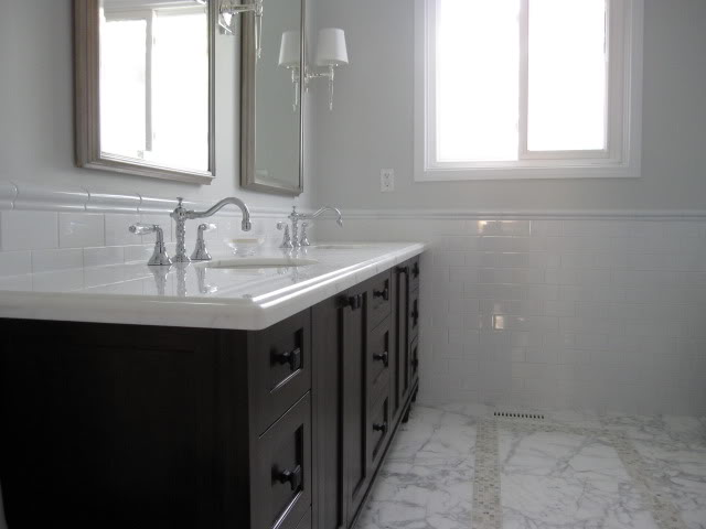 Double Sided Bathroom Vanity - Contemporary - bathroom - Peter ...