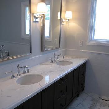 Benjamin Moore Horizon, Transitional, bathroom, Benjamin Moore Horizon, Redroze's Renos