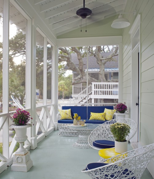 Covered Porch Transitional Porch Kishani Perera