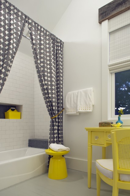 Bathroom Yellow And Gray yellow and gray bathroom design ideas