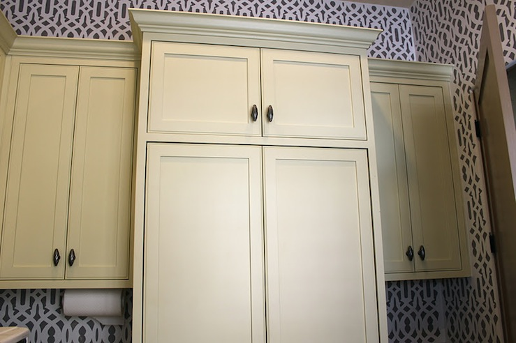 Yellow Cabinets Contemporary Laundry Room The