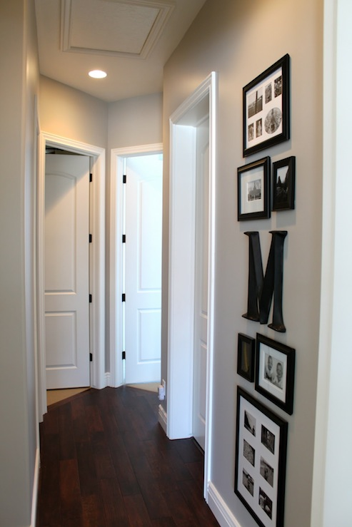Paint gallery benjamin moore ozark shadows paint for Hallway wall decor