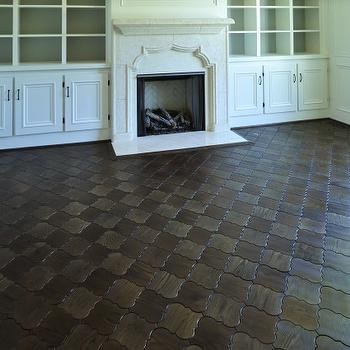 Quatrefoil Floor Tiles, Transitional, living room, Beckwith Interiors