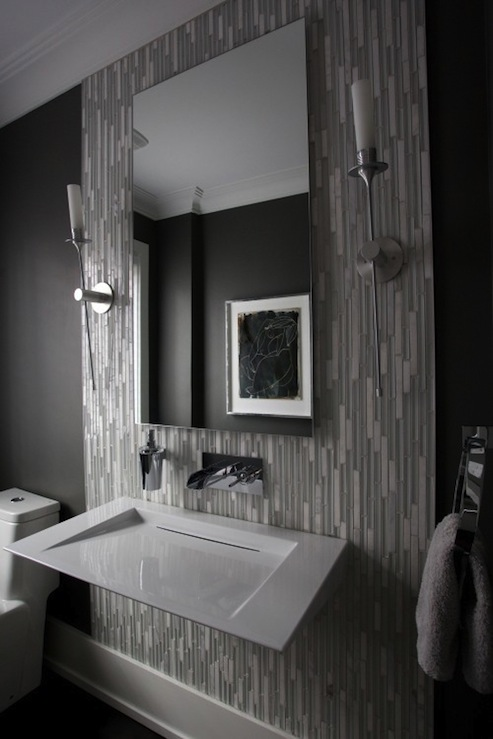 Modern Gray Bathroom - Contemporary - bathroom - Stephani ...