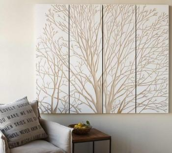 Wall Art Panels gold metal and mirror panels wall art