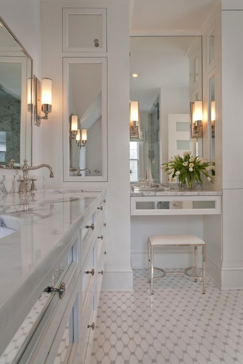 Floating Vanity Contemporary Bathroom Tiffany