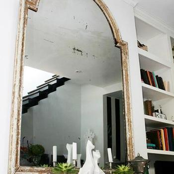 Whitewashed Mirror, Eclectic, living room