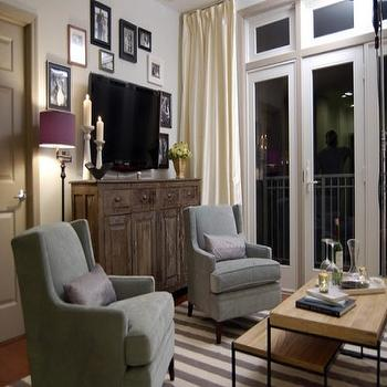 How To Disguise A TV View Full Size. Genevieve Gorder Rustic Living Room