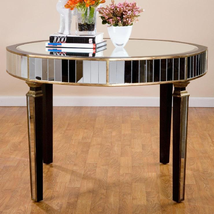 Statements by j f mirrored occassional dining table