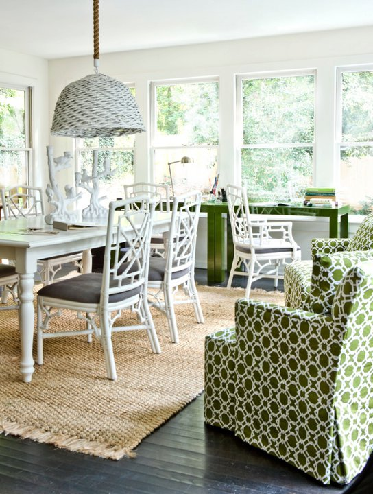 White Farmhouse Dining Table - Contemporary - dining room ...