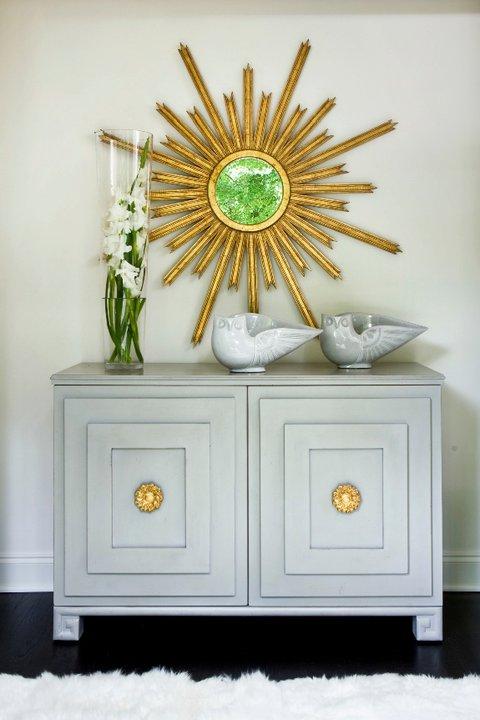 Gold Foyer Mirror : Gold leaf chest transitional entrance foyer benjamin
