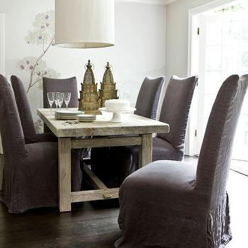 purple dining chairs - transitional - dining room