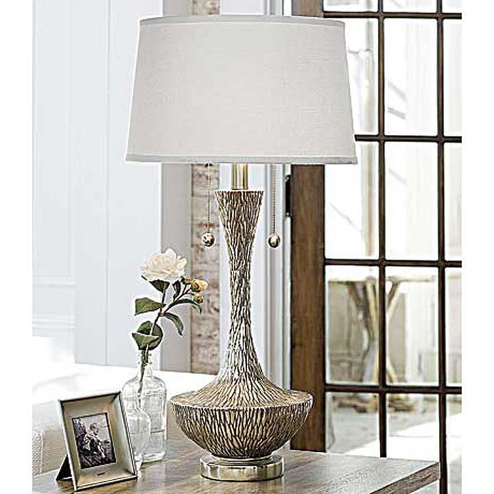 Regina Andrew Embossed Silver Vessel Table Lamp Regina