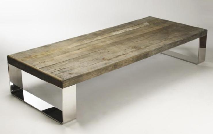 Wooden Steel Reclaimed Coffee Table