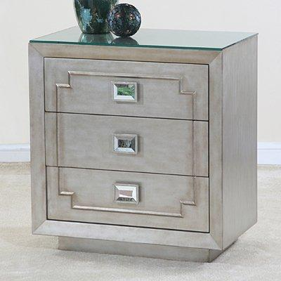 Ultimate Accents 46764CH Contempo Silver Side Chest   Home Furniture  Showroom