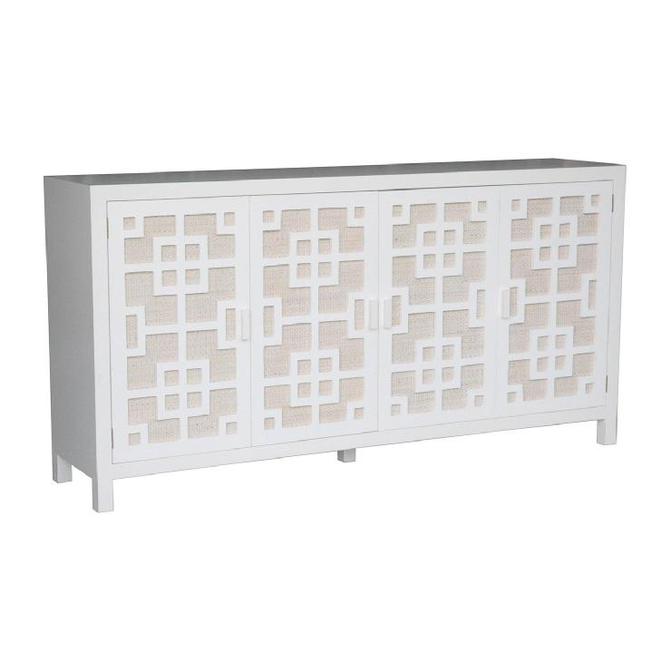 Jeffan International JV TTM409 Tatum Sideboard, White   Home Furniture  Showroom