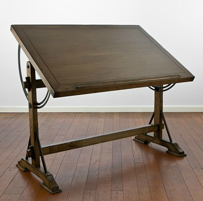 Restoration Hardware 1920s French Drafting Table Look 4 Less