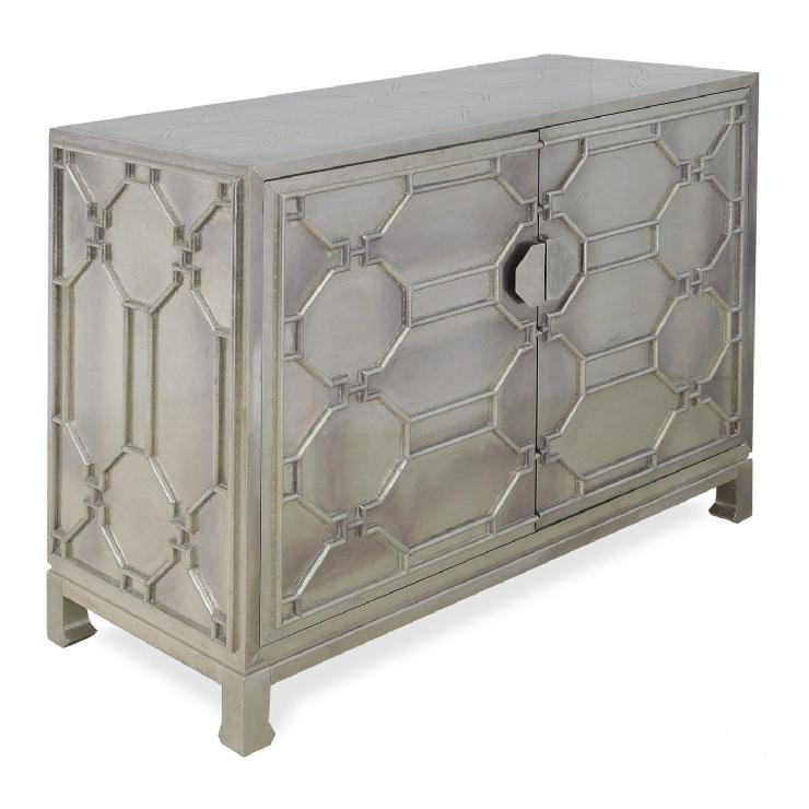 Amazing Brownstone TR002 Treviso Chest Decorative Storage Cabinet, German Silver    Home Furniture Showroom