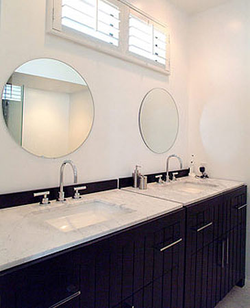 Round Bathroom Mirrors Contemporary Bathroom David