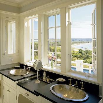 Hammered Metal Sinks, Transitional, bathroom, Hutker Architects