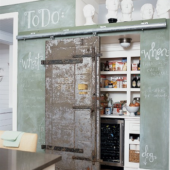 Pantry with Barn Door, Eclectic, kitchen, Holly Mathis Interiors