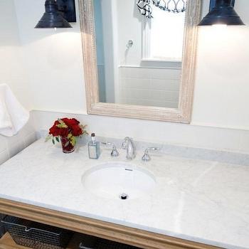 Bathroom Vanity with Shelves, Cottage, bathroom, Munger Interiors