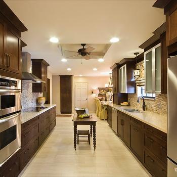 Dark Brown Cabinets, Transitional, kitchen, Sherwin Williams desert sand