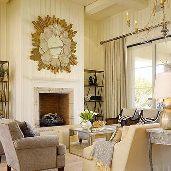 Mirrored Coffee Table, Transitional, living room, DeCesare Design Group