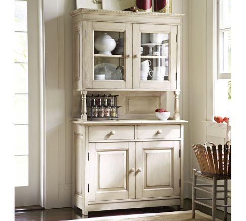 farmhouse kitchen cabinets cameron buffet amp hutch pottery barn 3696