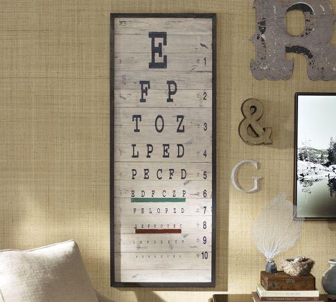 Eye Chart Pottery Barn