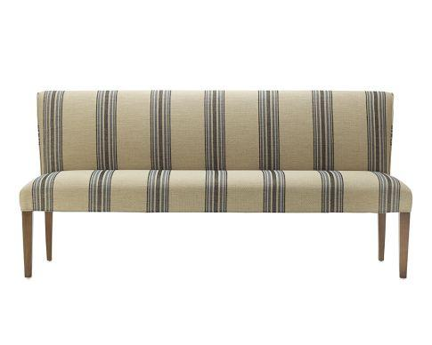 Fitzgerald Upholstered Bench Rustic Yacht Stripe