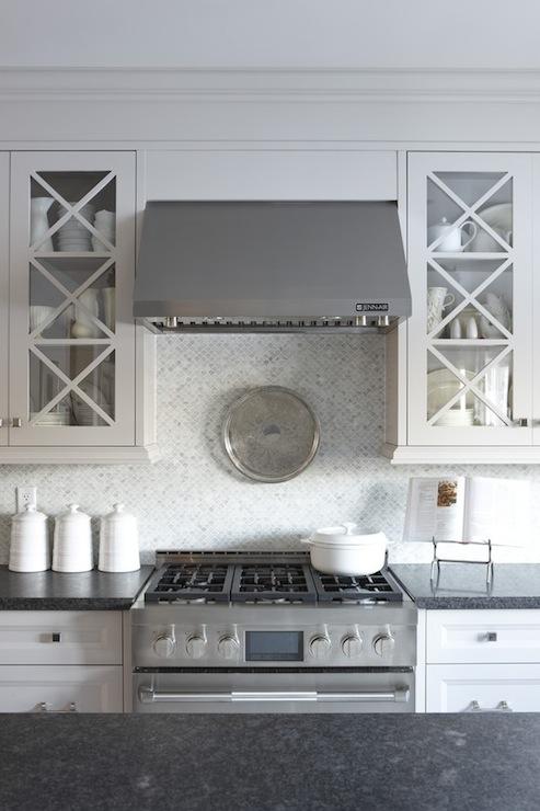 Marble Mosaic Backsplash Transitional Kitchen Para Paints Shoreline Sarah Richardson Design