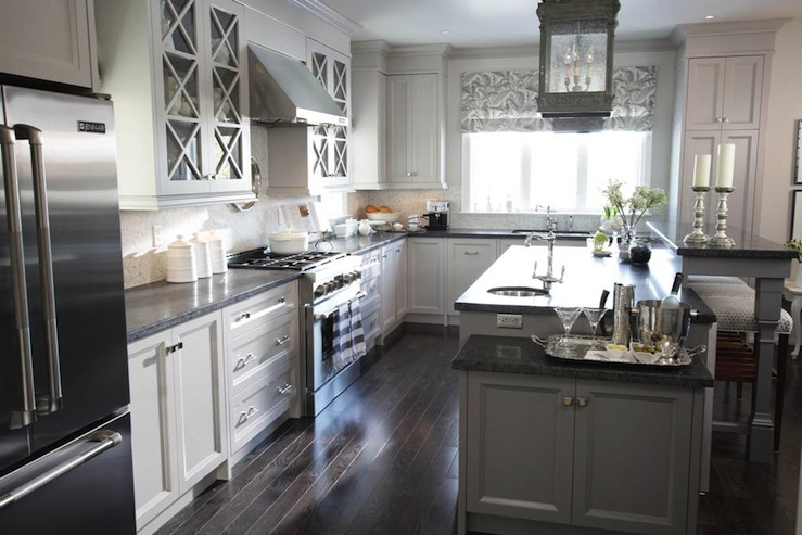 Honed Black Granite Transitional Kitchen Para Paints Jetstream Sarah Richardson Design