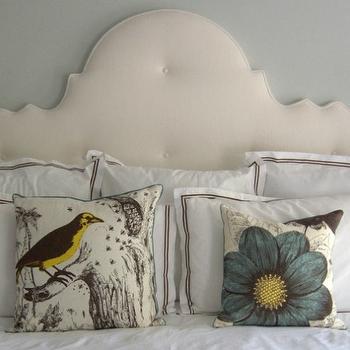 Cream Tufted Headboard, Transitional, bedroom, Sally Wheat Interiors