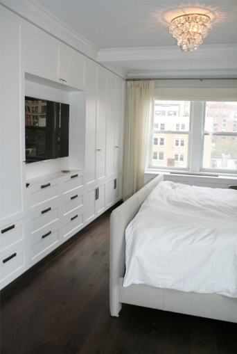 Tv built ins transitional bedroom curated for Bedroom wall units with wardrobe for small room