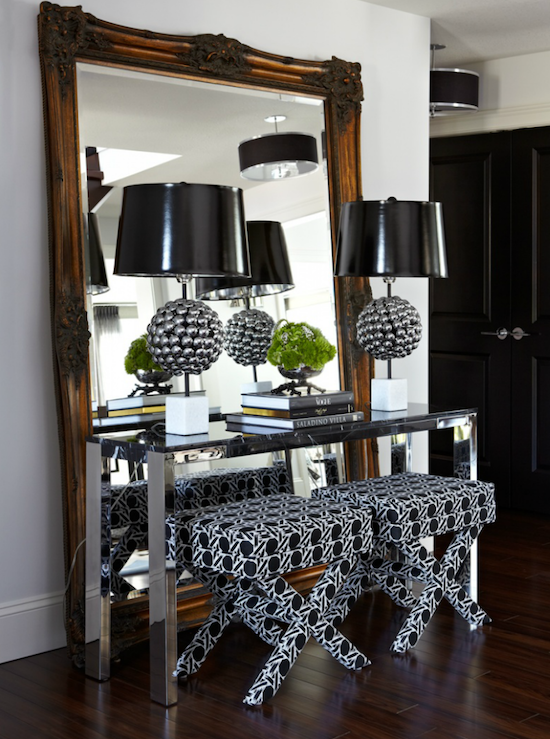 mirrored foyer table 1