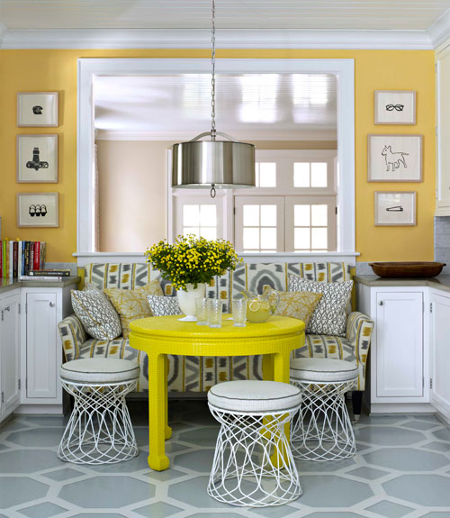 Yellow table contemporary dining room benjamin moore inner yellow table keyboard keysfo Choice Image