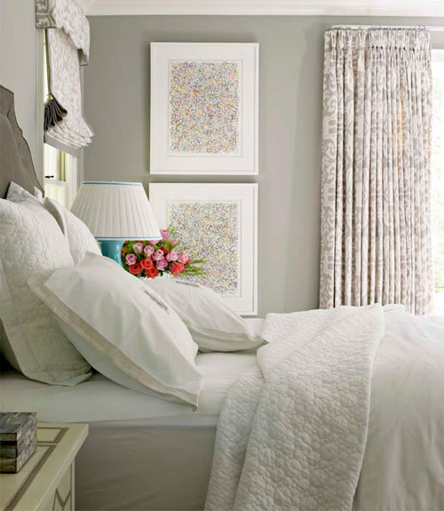 Gray Walls Transitional Bedroom Farrow Ball Drag: beautiful grey bedrooms