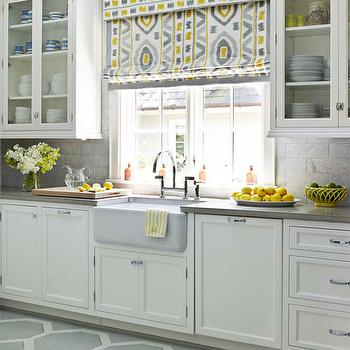 Yellow And Gray Kitchen