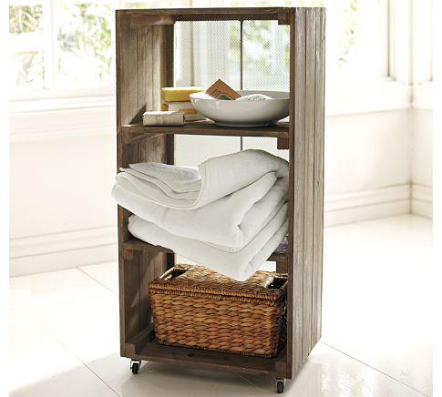 Attractive Crate Reclaimed Wood Floor Storage   Pottery Barn Awesome Design
