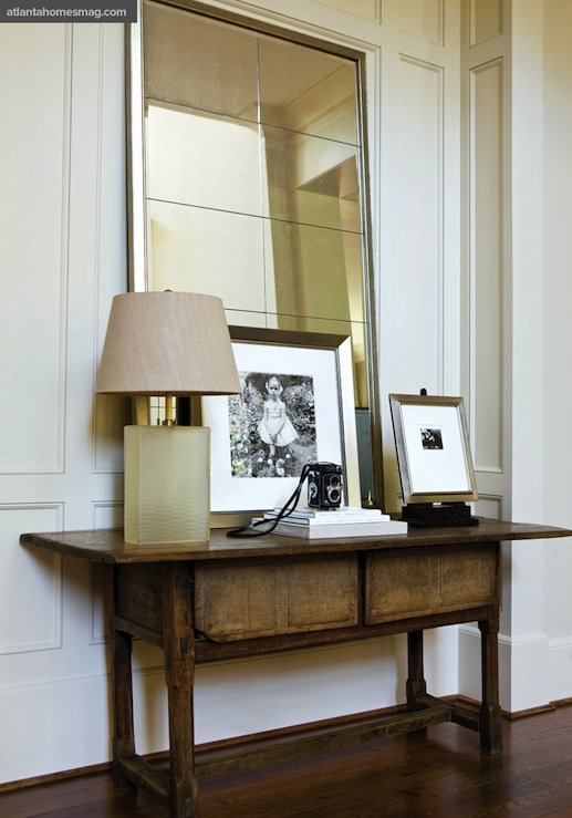 Leaning Entry Mirror Design Ideas