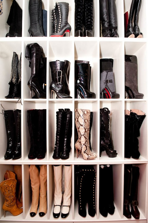 Awesome Fantastic Boots Storage Closet.
