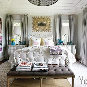 Gray Curtains, Contemporary, bedroom, Atlanta Homes & Lifestyles