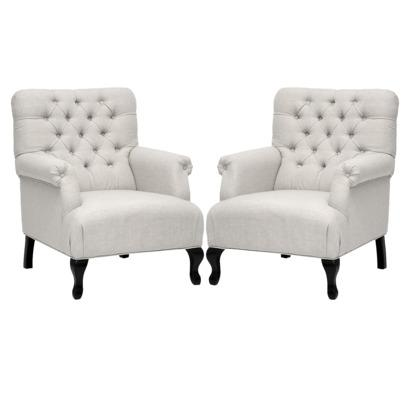 set of 2 medium size joussard linen club chair target