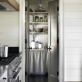 Pantry with Bi-Fold Doors, Country, kitchen, Atlanta Homes & Lifestyles